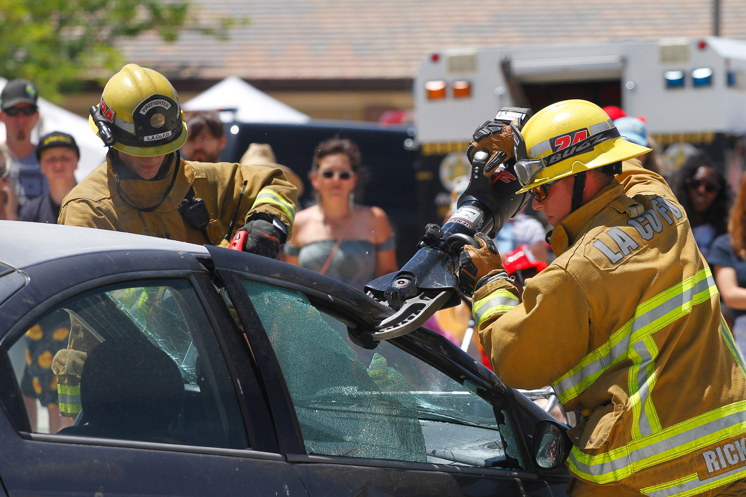 The Los Angeles County Fire Department's (LACoFD) second Fire Service Day this year took place at Fire Station 129 in Lancaster on Saturday, May 4, 2019.  This is the 22nd year of the North Regional Operational Bureau's event which featured fire apparatus, demonstrations and a chili cook-off.