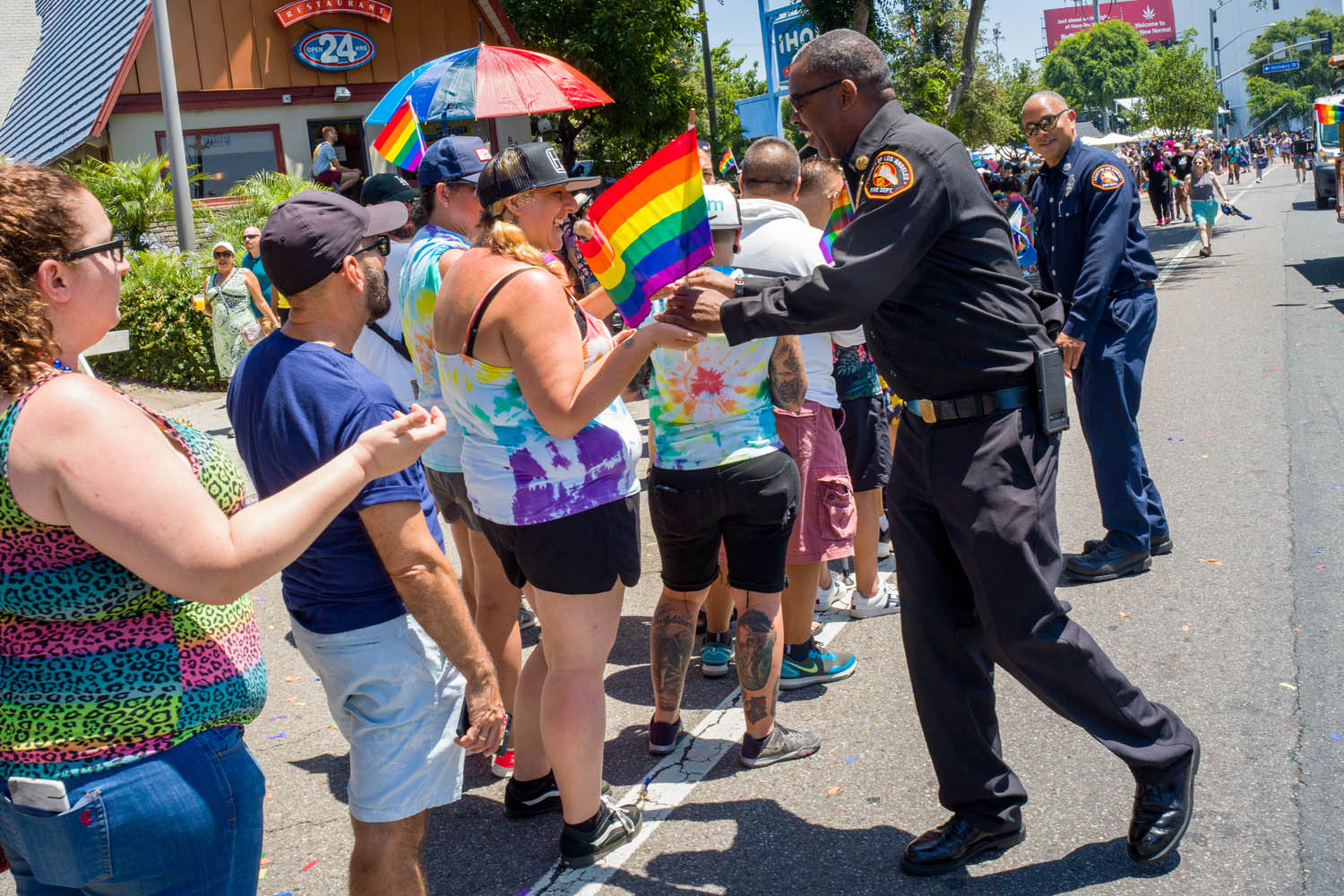 On Sunday, June 9, 2019, the Los Angeles County Fire Department (LACoFD) participated in the annual Los Angeles Pride Festival and Parade in West Hollywood.